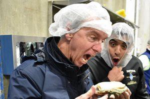 Duke Eating Oyster