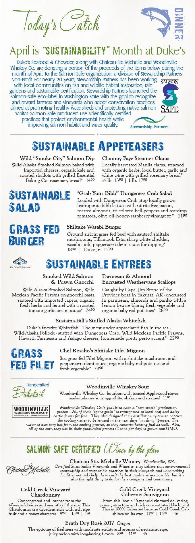 Sustainability Menu 2018