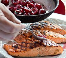Dukes Blueberry Salmon Signature Dinner