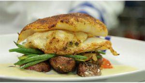 Duke's Seafood Stuffed Cod Dinner