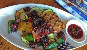 Duke's Seafood Entre - Blackberry Salmon Lighter